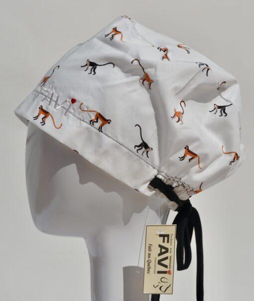 chapeau de chirurgie semi-bouffant-Ah! Les beaux singes