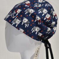 chapeau de chirurgie semi-bouffant-amoureux des bouledogues