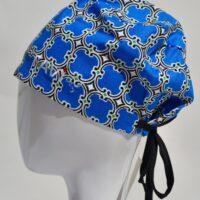 chapeau de chirurgie semi-bouffant-King bleu