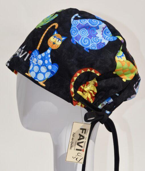 chapeau de chirurgie semi-bouffant-chats dodus