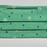 masque avec élastiques souples-fleurs en vert