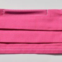 masque avec élastiques souples-fins carreaux en rose