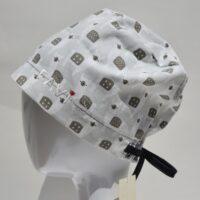 chapeau de chirurgie semi-bouffant-alpaga en gris