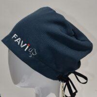 chapeau de chirurgie semi-bouffant-polyester bleu marin