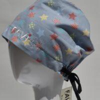 chapeau de chirurgie semi-bouffant-les étoiles