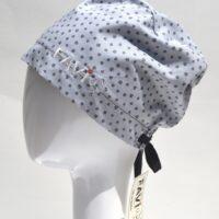 chapeau de chirurgie semi-bouffant-les minis pattes en gris