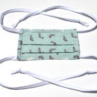 masque avec ganses-les phoques en bleu vert