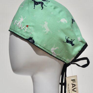 chapeau de chirurgie-les chiens en pistache