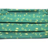 masque avec élastiques souples-petits pieds en vert