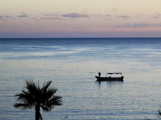 Coucher de soleil sur la mer de Cortez à Baja California