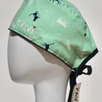 chapeau de chirurgie-les chats en pistache