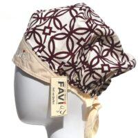 chapeau de chirurgie bouffant '67 en brun et beige