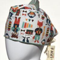 chapeau de chirurgie avec oreilles-les animaux musiciens