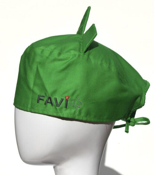 Chapeau de chirurgie avec oreilles vert