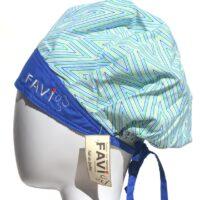 chapeau de chirurgie bouffant Chevron bleu