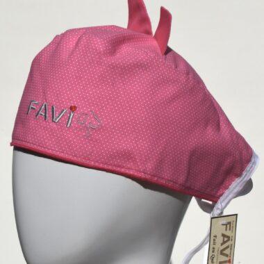 chapeau de chirurgie avec oreilles Les petits pois en rose