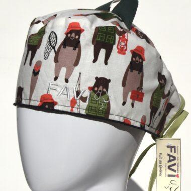 chapeau de chirurgie avec oreilles-les ours pêcheurs