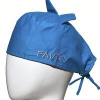 Chapeau de chirurgie avec oreilles bleu océan