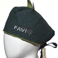 chapeau de chirurgie avec oreilles Les petits pois en vert
