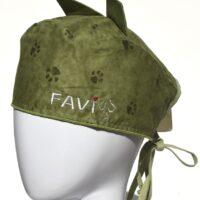 Chapeau de chirurgie avec oreilles Petites Pattes en vert