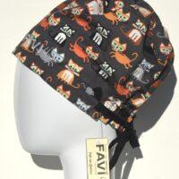chapeau de chirurgie semi-bouffant-les chatons festifs