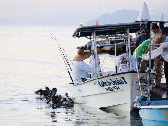 Pêcheurs à Loreto, Mexique
