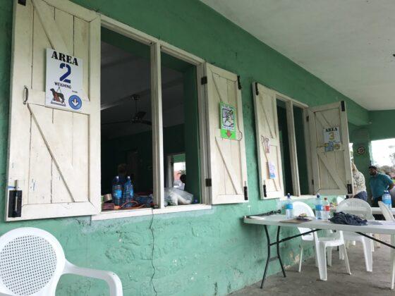 Accueil de la clinique FAVI à San Joaquin, Belize