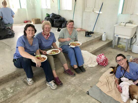 Une pause bien méritée pour nos bénévoles