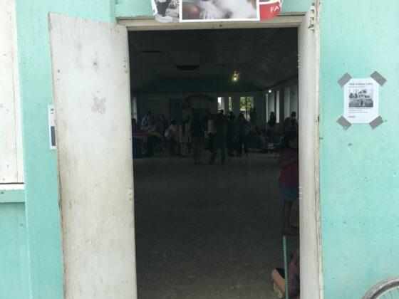 Le centre communautaire de Sarteneja où se tient la clinique de la FAVI