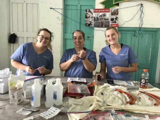 Station pré-opératoire clinique FAVI à Sarteneja