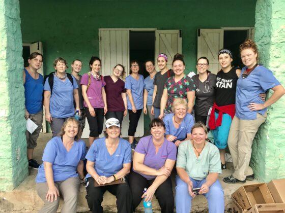 Équipe de bénévoles de la FAVI Belize janvier 2020