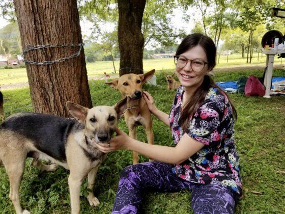 Julia, technicienne en santé animale bénévole à la clinique FAVI en Tanzanie