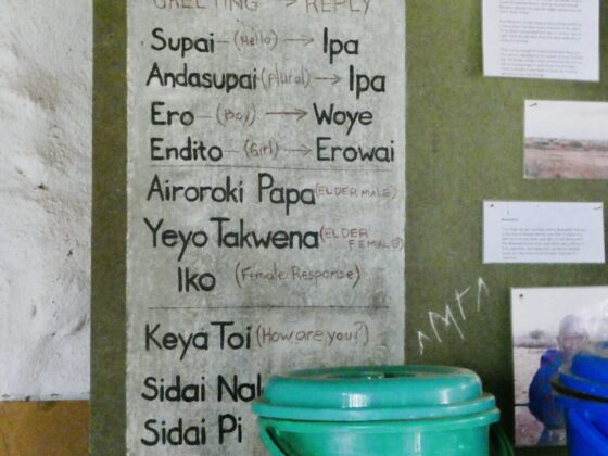 Cours de langue massaï, safari FAVI Tanzanie