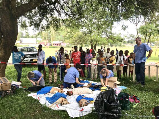 Zone de réveil clinique FAVI en Tanzanie