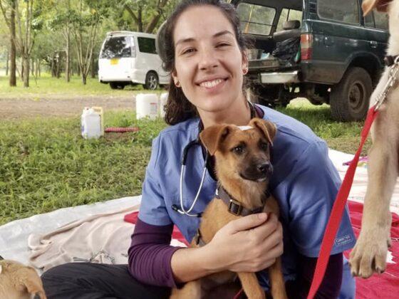 Pauline, étudiante finissante en médecine vétérinaire