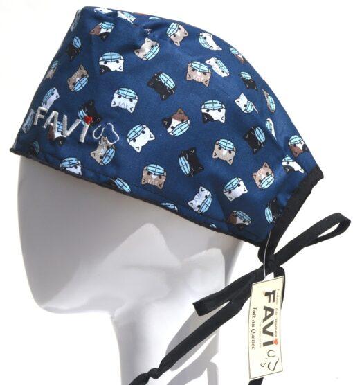 chapeau de chirurgie-les chatons masqués