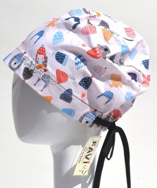 chapeau de chirurgie semi-bouffant-mets ta tuque en blanc