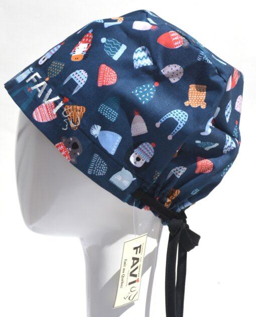 chapeau de chirurgie semi-bouffant-mets ta tuque en bleu