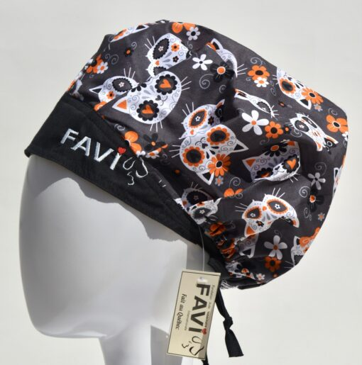 chapeau de chirurgie bouffant-Frida Kitty