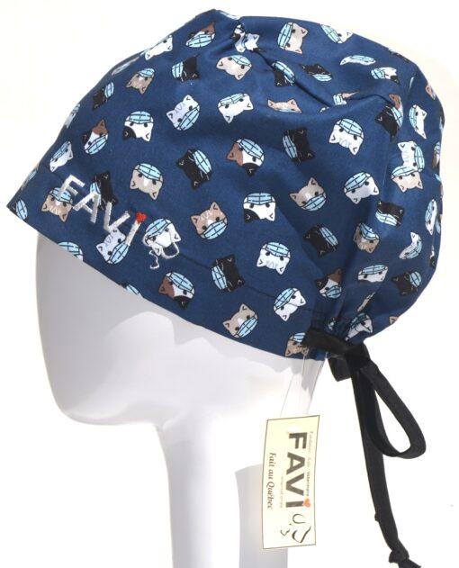 chapeau de chirurgie semi-bouffant-les chatons masqués