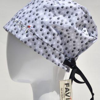 chapeau de chirurgie semi-bouffant-papattes