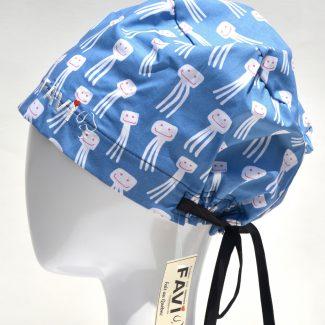 chapeau de chirurgie semi-bouffant-les pieuvres heureuses